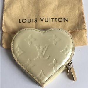 Louis Vuitton Vernis Heart Coin Case Change purse